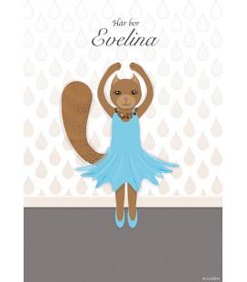 Namntavla Ballerina
