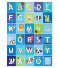 Alfabetstavla blå 30x40 cm