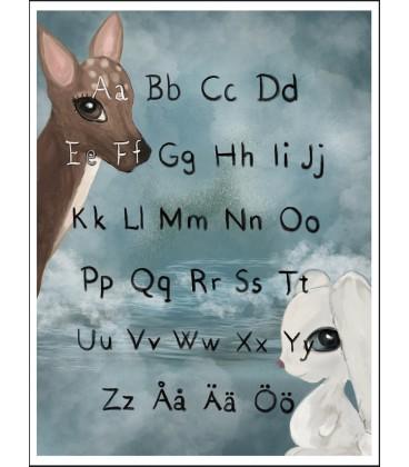 Alfabet akvarell