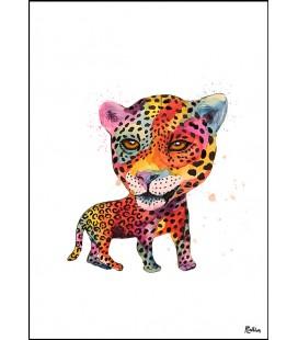 Jaguar akvarell