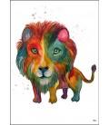 Lejon akvarell