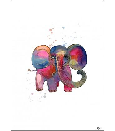 Babyelefant akvarell