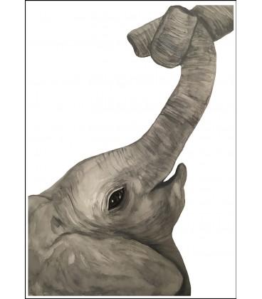 Barntavla Elefant