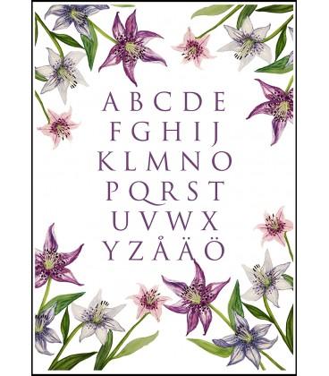 Alfabetstavla Liljor