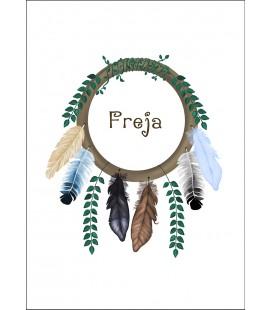 Namntavla Feathers