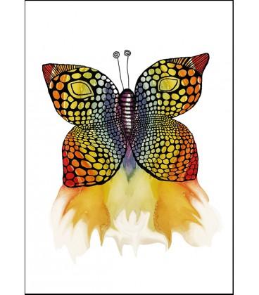 Fjäril regnbågsfärgad