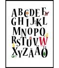 Personlig alfabetstavla 30x40 cm