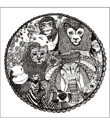 Exotiska djur i cirkel