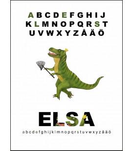Namntavla Tyrannosaurus