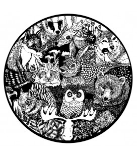 Skogsdjur i cirkel