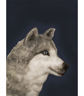 Konstprint Wolf