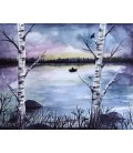 Konstprint Peaceful lake