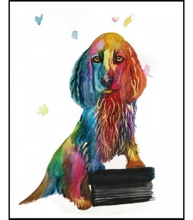 Konstprint Cocker spaniel