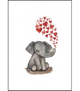 Barntavla Elefantkärlek