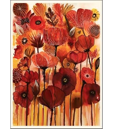 Konstprint Red florals