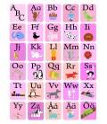 ABC-tavla rosa/blå