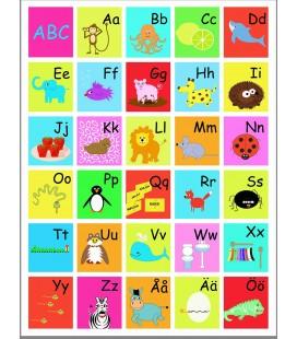 ABC-tavla Färgglad