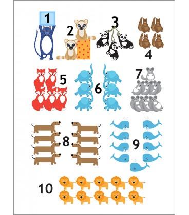 Räkna djur, 30x 40 cm
