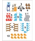 Räkna djur, 30x40 cm