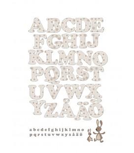 Alfabet med kanin