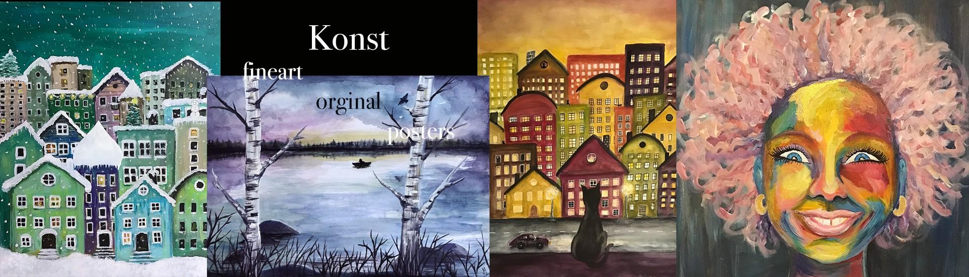 Prints av akvarellmålningar